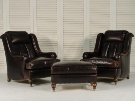 img_Billiard Reading Chair with Ottoman